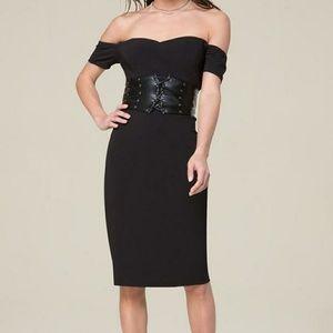 Bebe off shoulder dress
